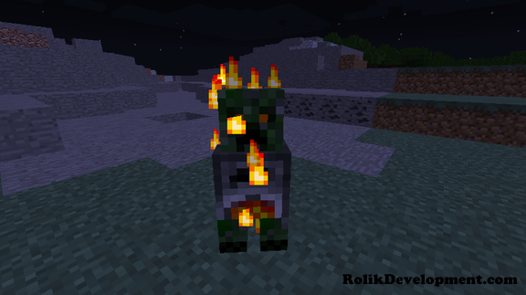 furnace creeper in minecraft exploding