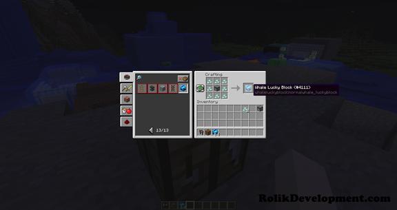 Whale Lucky Block Minecraft Mod